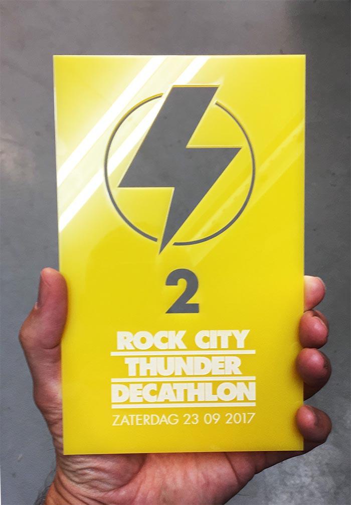 Acylaat awards voor de Rock City Thunder Decathlon