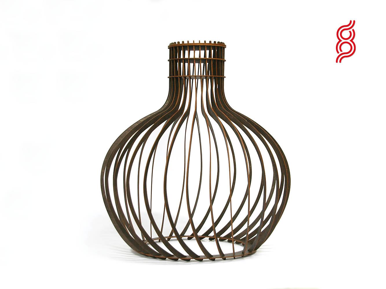 Moderne Lampen 60 : Lamp twist brown cm eight arms lasersnijden en graveren